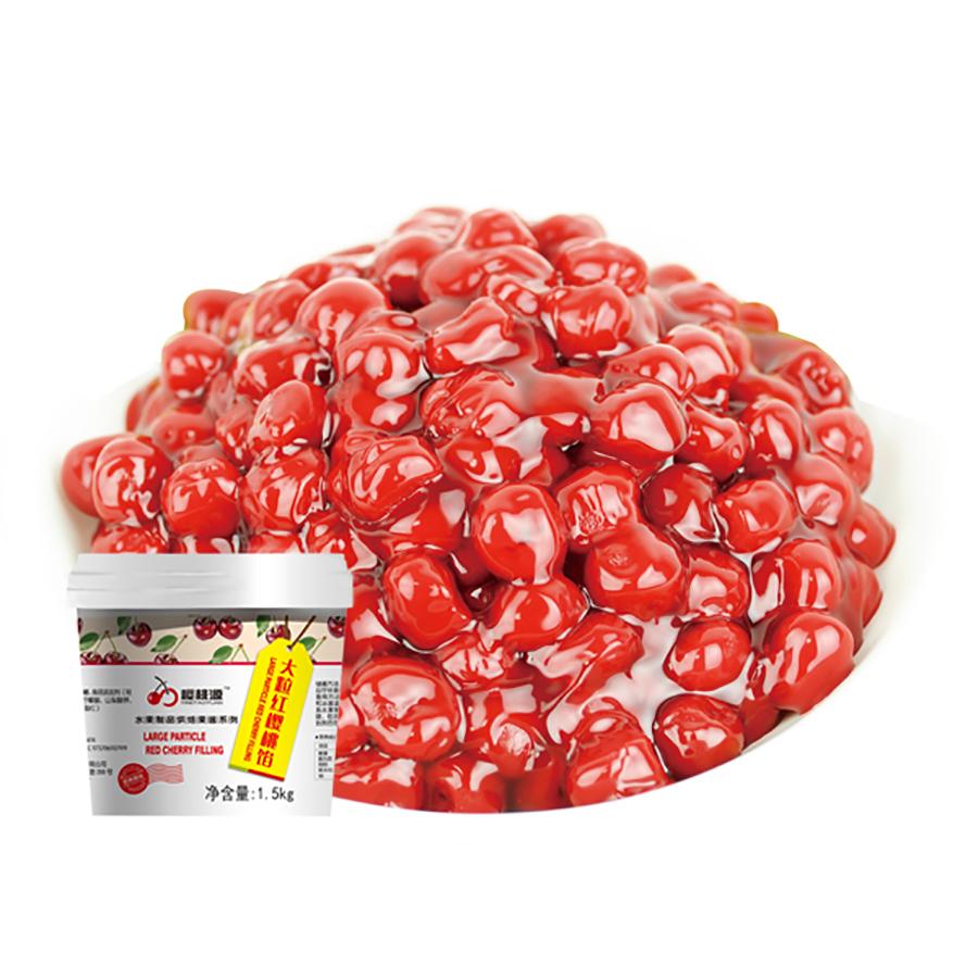 大粒红樱桃馅