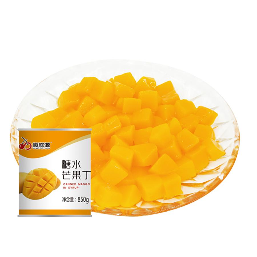 糖水芒果丁罐头